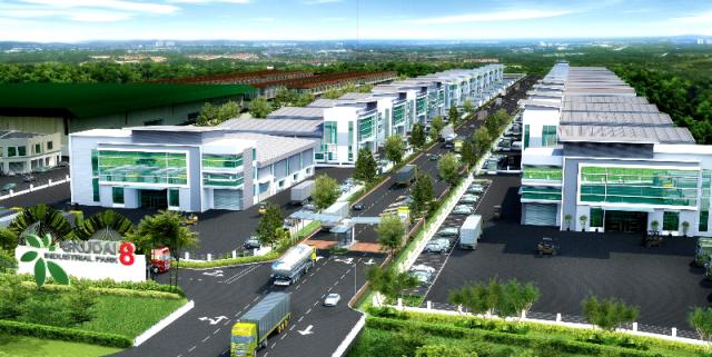 Tổ chức kiến trúc cảnh quan trong khu công nghiệp làm giảm bớt sự thô cứng của hình khối công trình