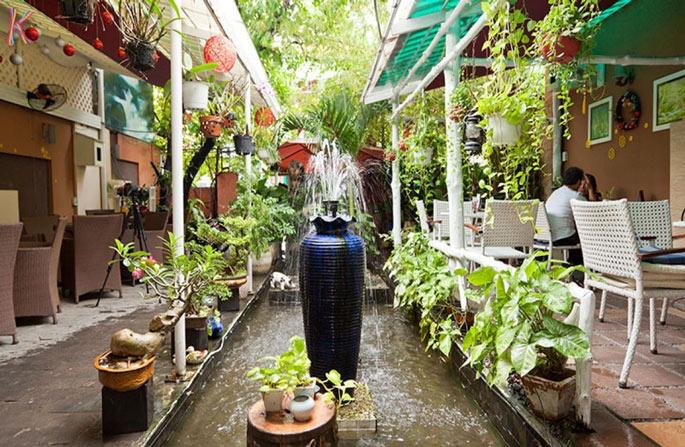 Mẫu cảnh quan sân vườn quán cafe đẹp